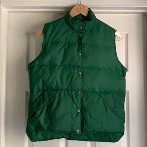 L. L. Bean emerald green puffer vest